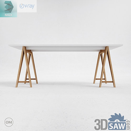 3ds Max Table Model - 3d Model Free Download - MX-1168