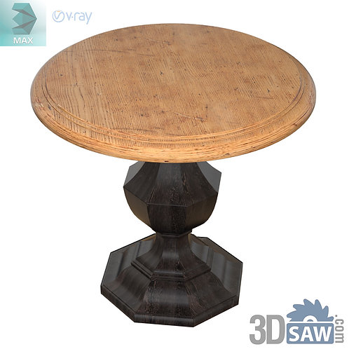 Wood Round Accent Table - Table Solid Wood - MX-595