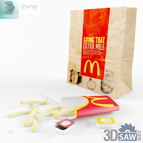 3ds Max Foods McDonald - Kitchen Items - 3d Model Free Download
