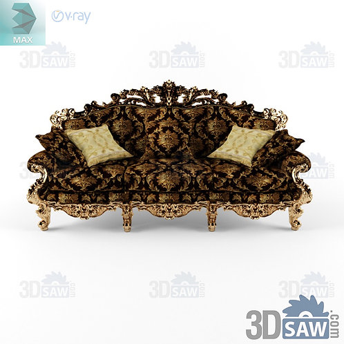 Sofa - Baroque Decor - Vintage Furniture - MX-0000374