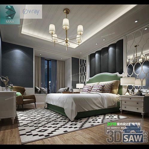 3d Model Interior Design Free Download - 3ds Max Bedroom Design - MX-936