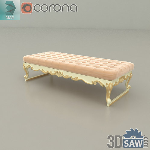 Bed Bench - Baroque Decor - Vintage Furniture - MX-546