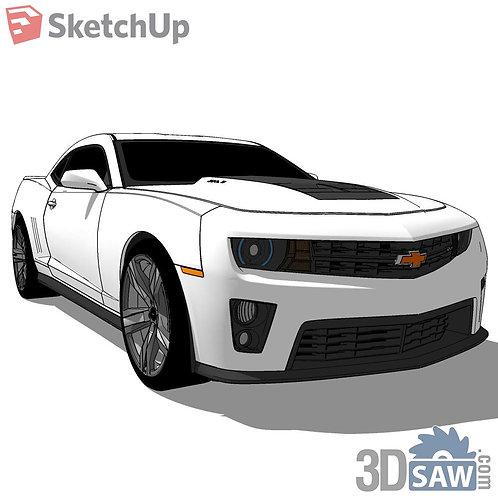 Car Vehicle Models - Chevrolet Camaro Unbenennt - SU-0000180