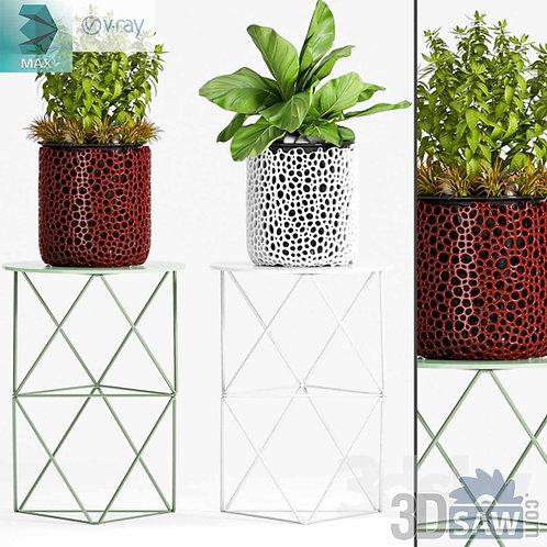 Flower Vase - Interior Plants - Planter - MX-0000098