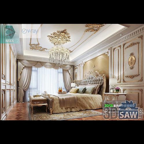 3d Model Interior Design Free Download - 3ds Max Bedroom Design - MX-943
