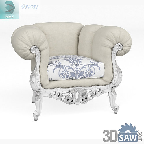 Classic Armchair - Baroque Decor - Vintage Furniture - MX-519