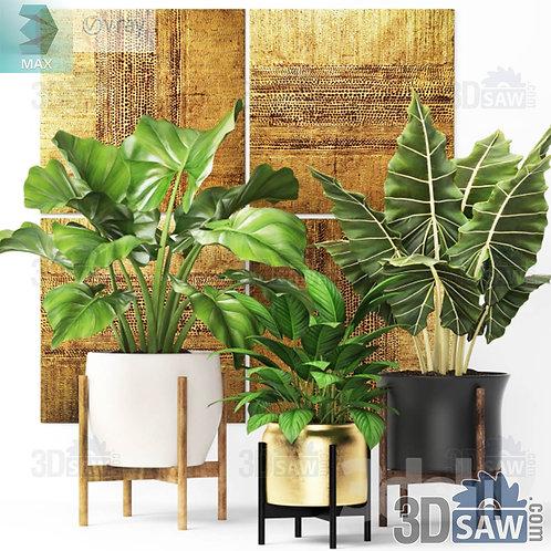 Flower Vase - Interior Plants - Planter - MX-0000277