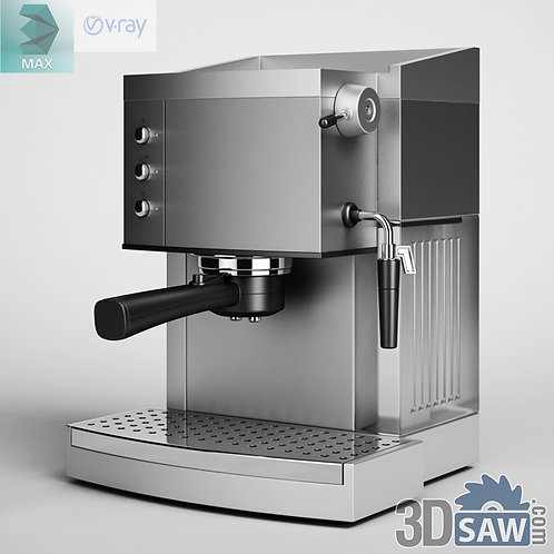 3ds Max Coffee Machine - Kitchen Items - 3d Model Free Download
