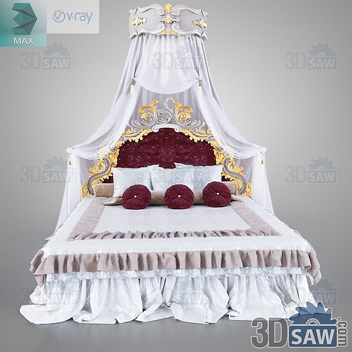 Double Bed - Baroque Decor - Vintage Furniture - MX-0000369