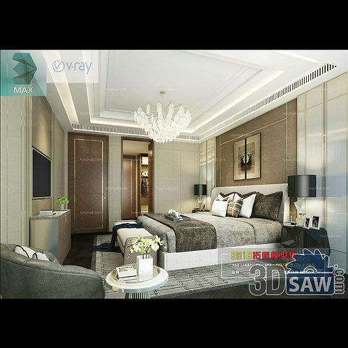 3d Model Interior Design Free Download - 3ds Max Bedroom Design - MX-927
