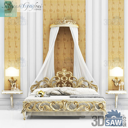Bed Model - Bedroom Item Decor - MX-0000272