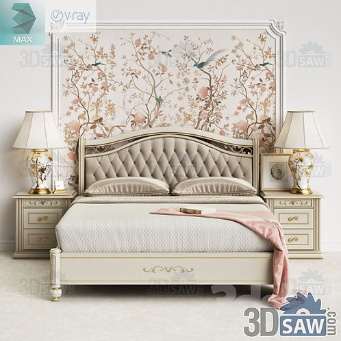Bed Model - Bedroom Item Decor - MX-0000337