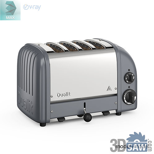 3ds Max Toaster Machine  - Kitchen Items - 3d Model Free Download