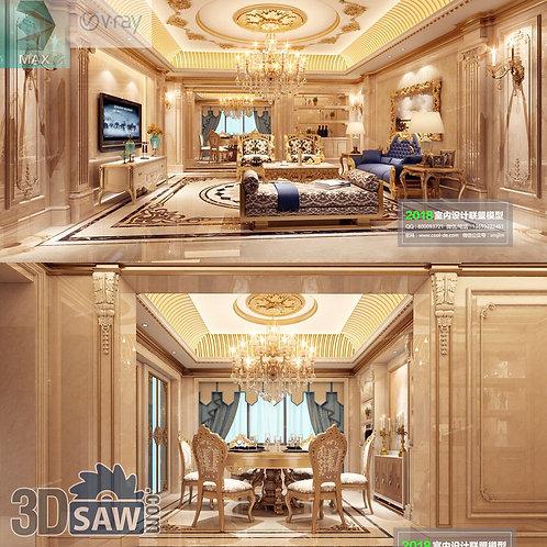 3d Model Interior Free Download - 3ds Max Living Room Decor - MX-1060