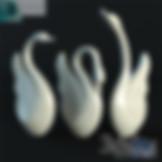 3ds Max Ceramics Swans Statue Sculpture Decor Set - Decoration Items - Free 3d Models Download - 3DSAW.COM