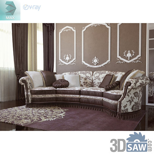Classic Sofa - Baroque Decor - Vintage Furniture - MX-516