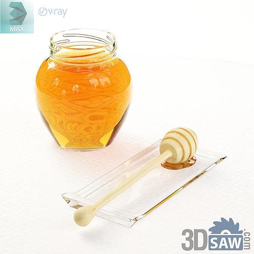 3ds Max Honey Jar - Kitchen Items - 3d Model Free Download