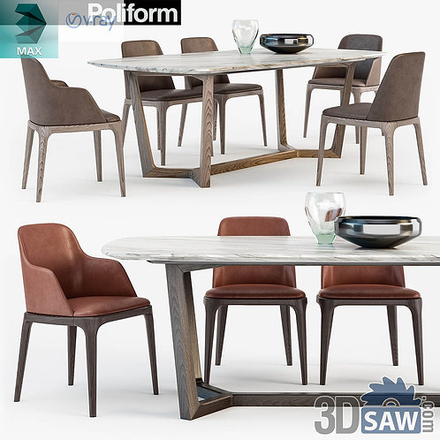 Table And Chairs Set - MX-0000184