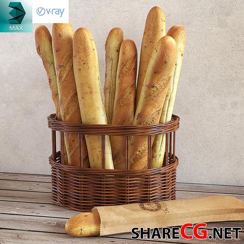 Classic Baguettes Bread Sticks - Kitchen Set Decor - MX-0000012