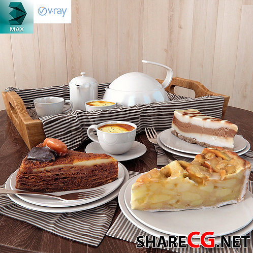 Tea Cake - Dinner Set Table -  MX-0000014
