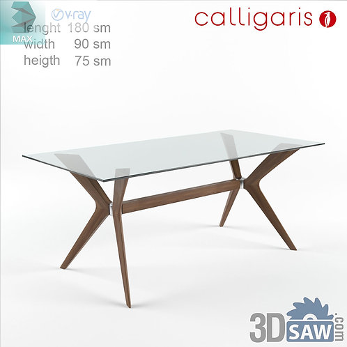3ds Max Table Model - 3d Model Free Download - MX-1149
