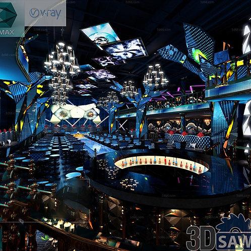 3d Interior Design - Nightclub 3d Interior - 3DS Max Project - MX-772