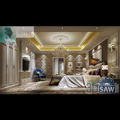 3d Model Interior Design Free Download - 3ds Max Bedroom Design - MX-944