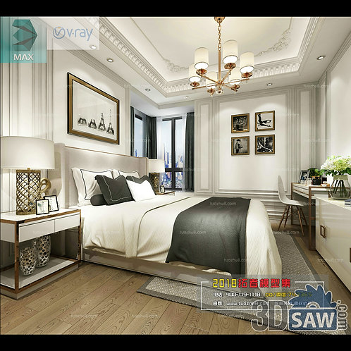 3d Model Interior Design Free Download - 3ds Max Bedroom Design - MX-928