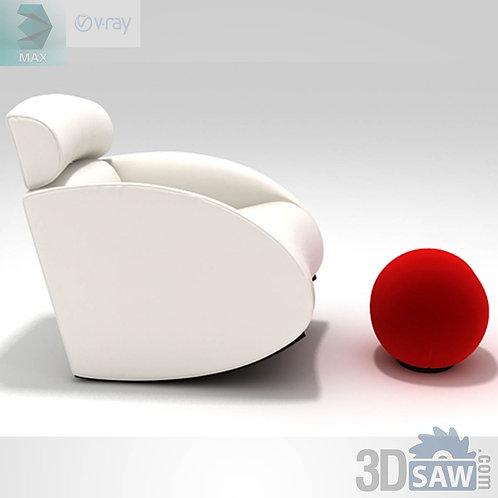 Armchair Model - Mama Armchair and Tatino Footstool - MX-0000112