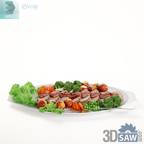 3ds Max Food - Appetizer Dishes - Kitchen Items - 3d Model Free Download