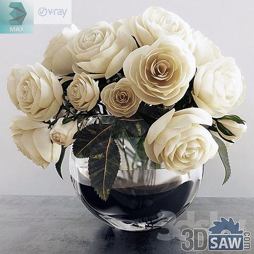 Flower Vase - Interior Plants - Rose Plant - MX-564