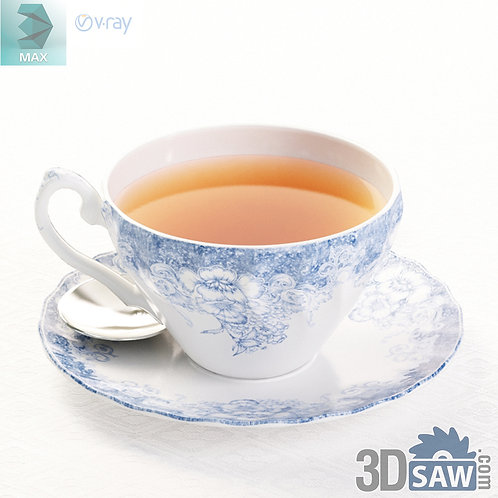 3ds Max Tea Cup - Kitchen Items - 3d Model Free Download