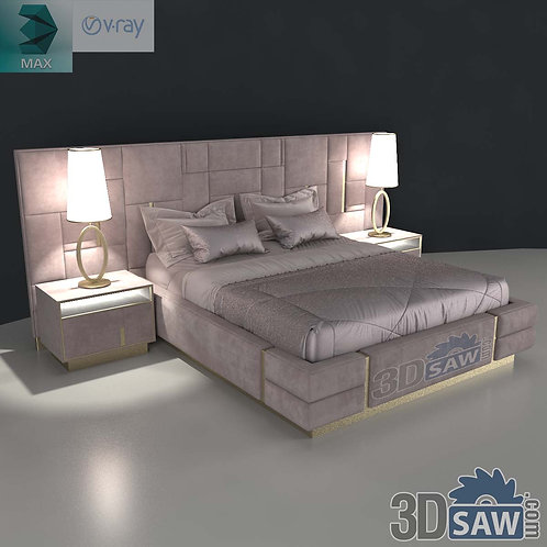 Bed Model - Bedroom Item Decor - MX-0000200