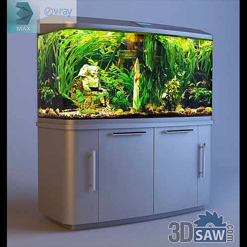 3ds Max Aquarium Glass Fish Tank - Pet Animals- 3DSAW.COM
