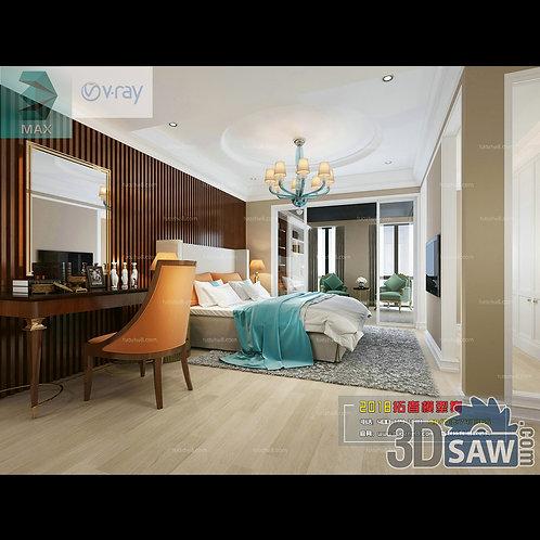 3d Model Interior Design Free Download - 3ds Max Bedroom Design - MX-911