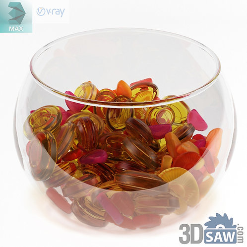 3ds Max Foods Candy Bowl - Kitchen Items - 3d Model Free Download