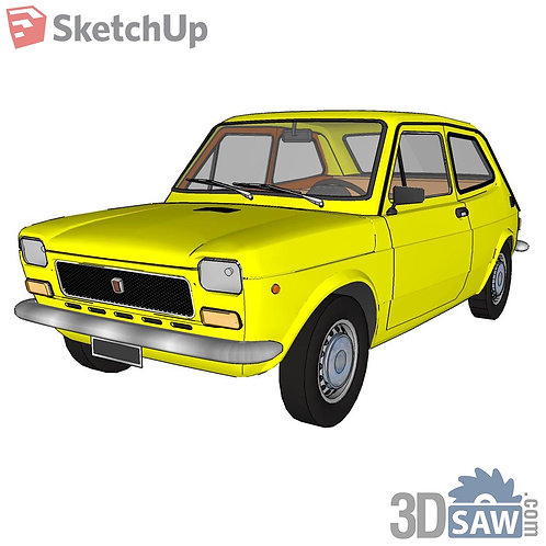 Car Vehicle Models - Fiat 127 - SU-0000154