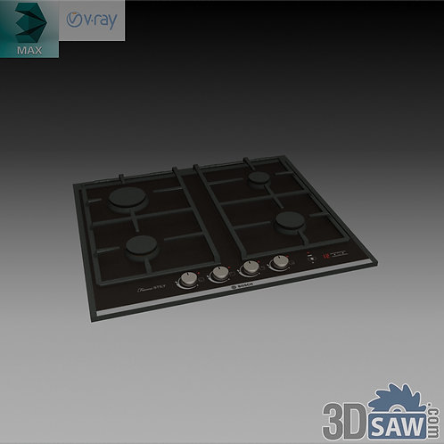 3ds Max Gas Stove Cooker - Kitchen Items - 3d Model Free Download