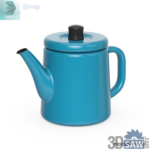 3ds Max Kettle - Kitchen Items - 3d Model Free Download