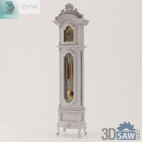 Grandfather Clock - Baroque Decor - Vintage Furniture - MX-506