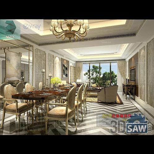 3d Model Interior Free Download - 3ds Max Living Room Decor - MX-1034