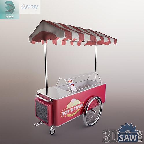 Ice Cream Cart - Shop Furniture - MX-844