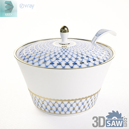 3ds Max Soup Bowl - Kitchen Items - 3d Model Free Download
