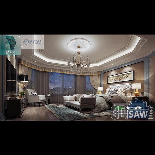 3d Model Interior Design Free Download - 3ds Max Bedroom Design - MX-937
