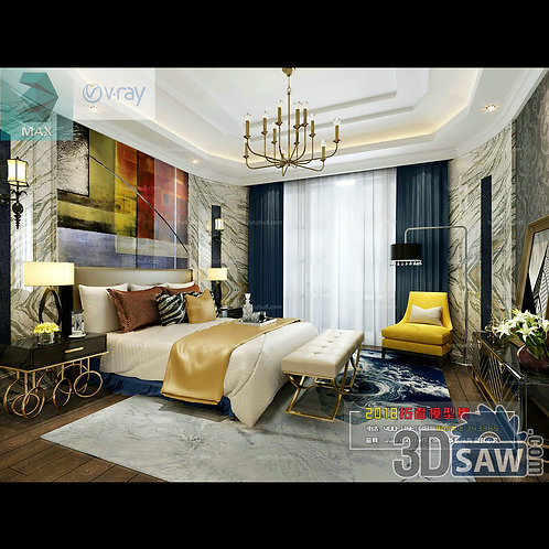 3d Model Interior Design Free Download - 3ds Max Bedroom Design - MX-922