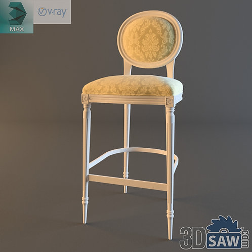 Bar Stool Chair - Baroque Deco - Vintage Furniture - MX-545