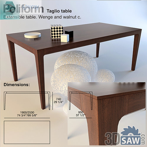 3ds Max Table Model - 3d Model Free Download - MX-978