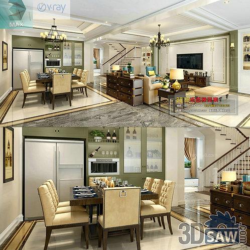 3d Model Interior Free Download - 3ds Max Living Room Decor - MX-1018