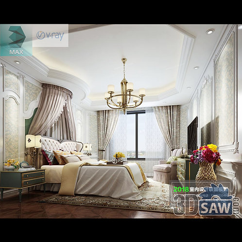 3d Model Interior Design Free Download - 3ds Max Bedroom Design - MX-939