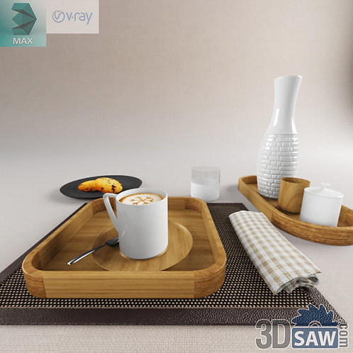3ds Max Foods Coffee Cookies - Kitchen Items - 3d Model Free Download